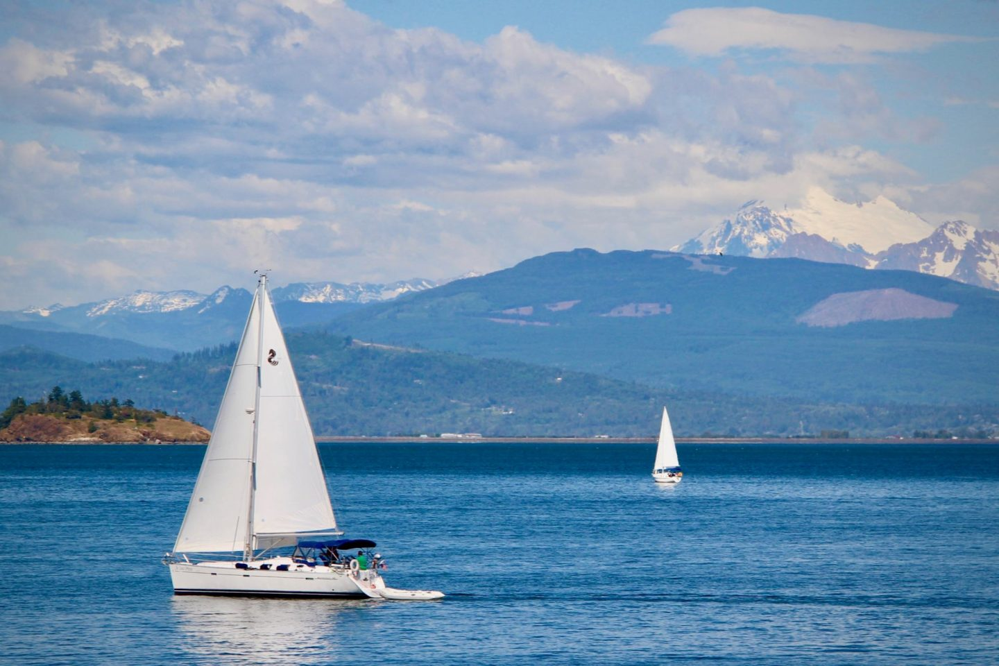 Sail boats near San Juan Islands, Washington | The Spectacular Adventurer