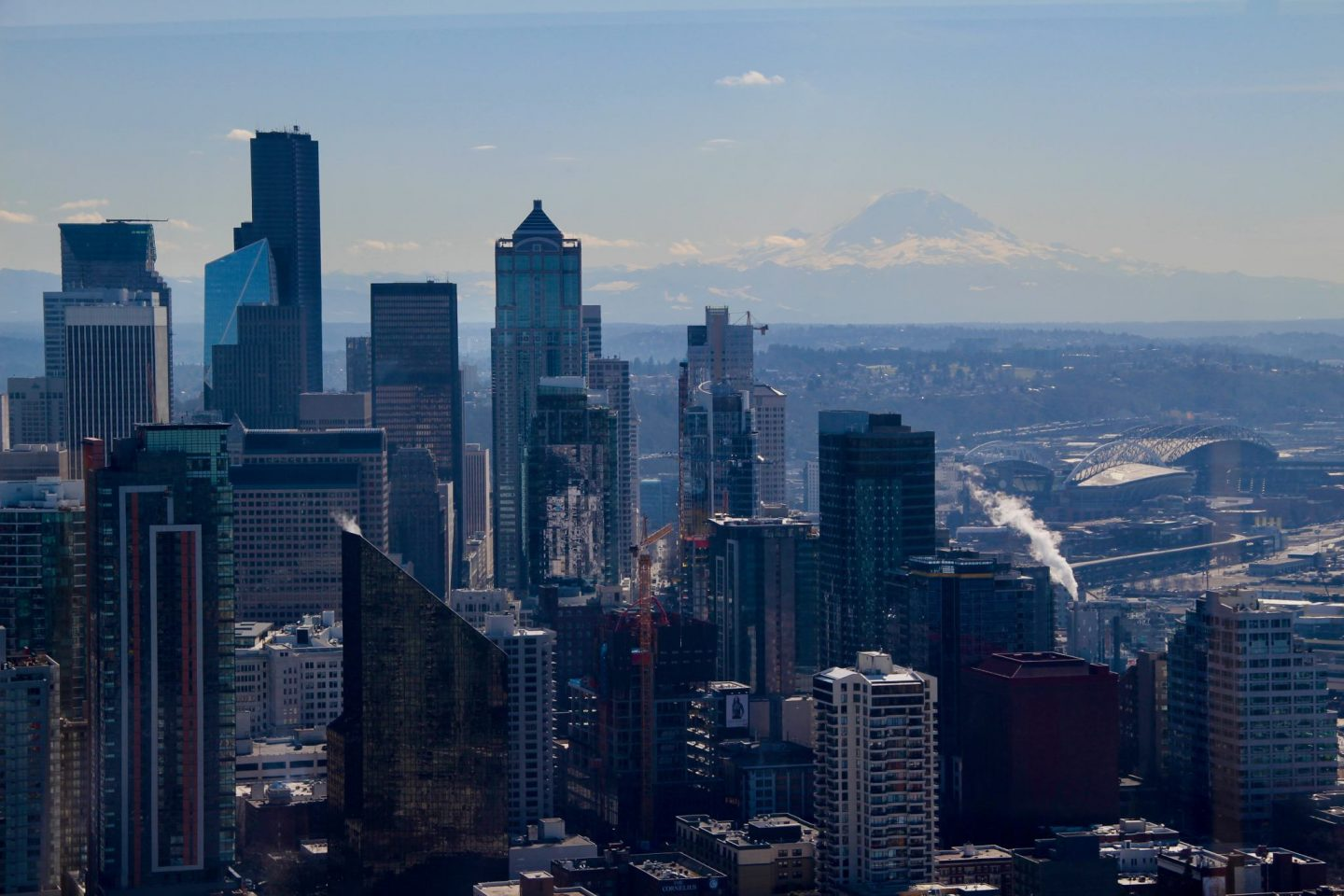 Seattle view from Space Needle Seattle, Washington - The Spectacular Adventurer