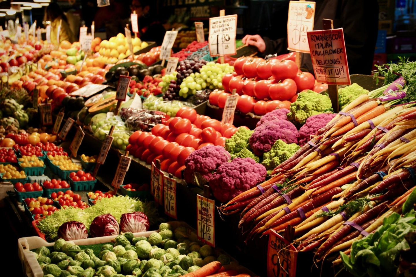Fresh Produce in Pike Place Public Market in Seattle, Washington - The Spectacular Adventurer