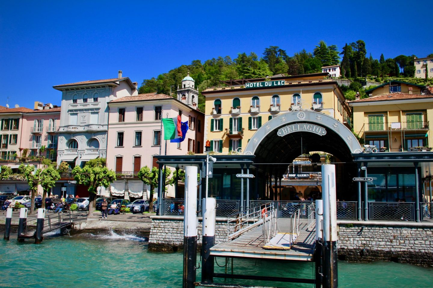 What to do in Lake Como ... Bellagio Ferry Dock, Lake Como Italy ... The Spectacular Adventurer