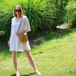 White Dress with Straw Purse Style ... The Spectacular Adventurer