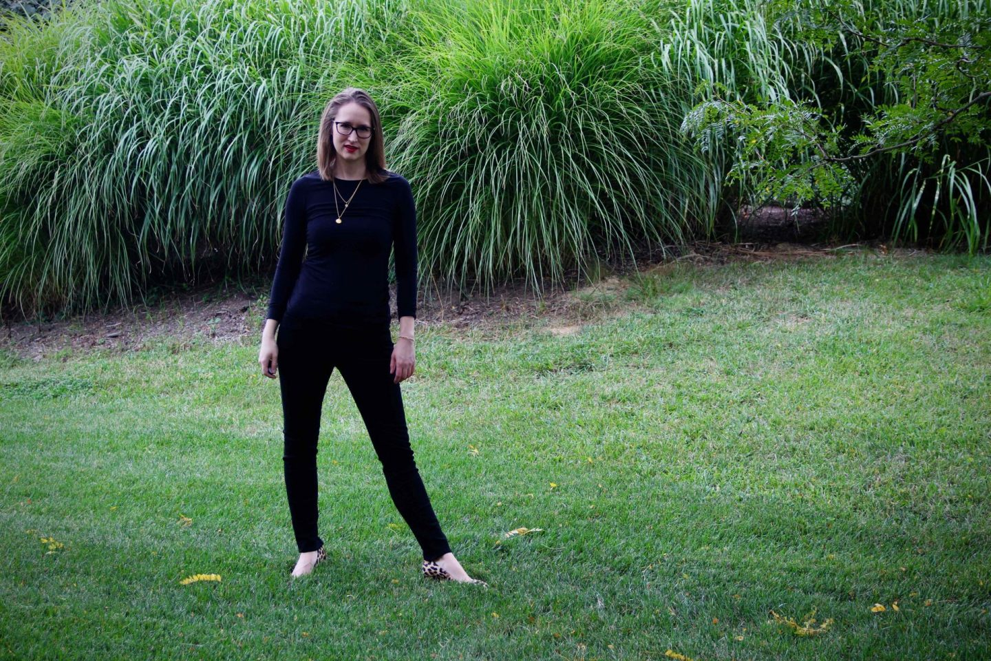 Fall Capsule Wardrobe   Standard All Balck with Dean Davidson Layered Necklace   The Spectacular Adventurer