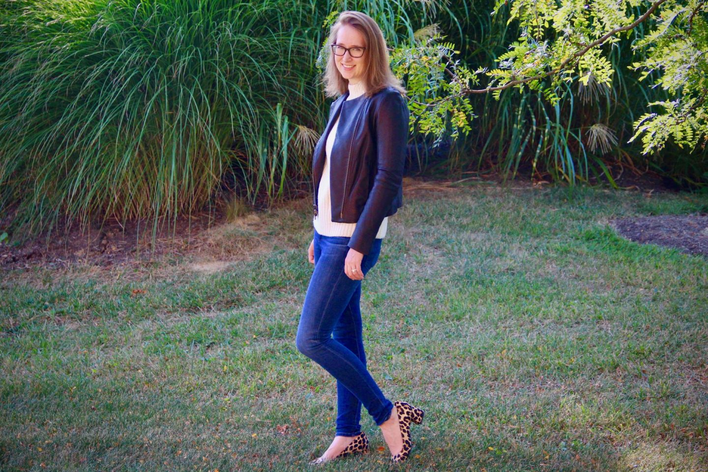 Fall Capsule Wardrobe   Sweater with Vince Leather Jacket   The Spectacular Adventurer