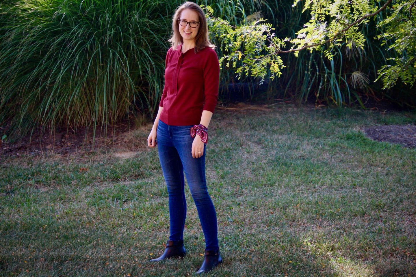 1901 Bow Sweater   Fall Capsule Wardrobe   The Spectacular Adventurer
