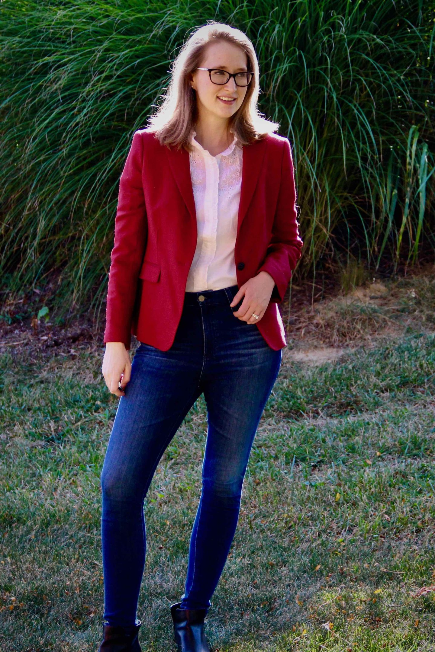 Fall Fashion   Rag & Bone Blazer with Embroidered Blouse   The Spectacular Adventurer