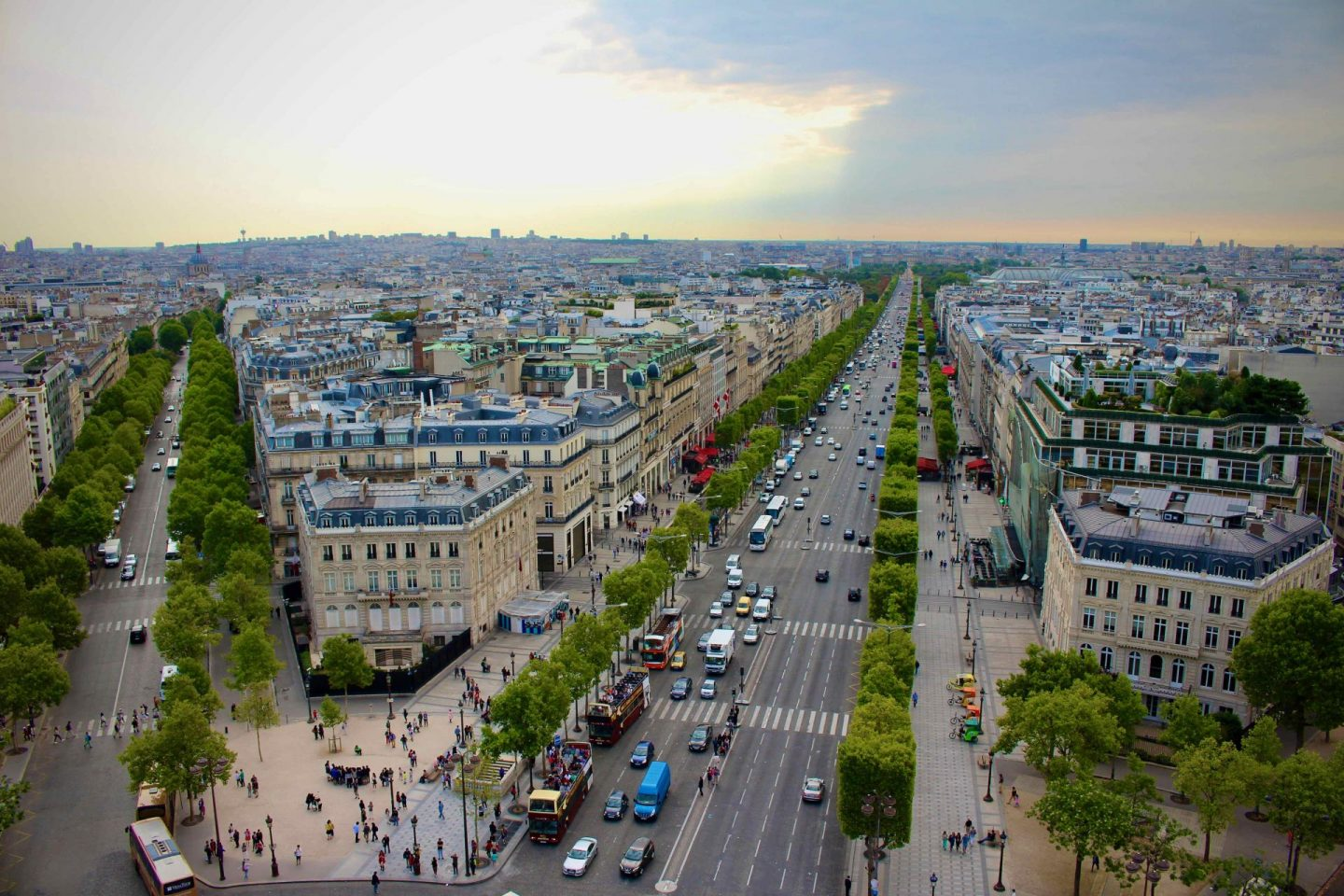 Champs-Elysées from Arc de Triomphe | 7-Day Paris Itinerary | The Spectacular Adventurer