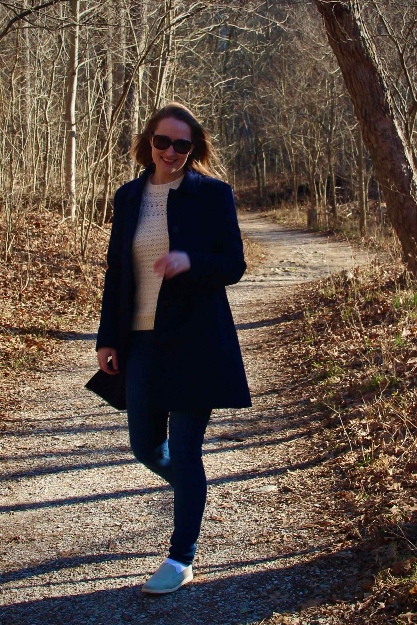 Preppy Winter Coat & Fair Isle Sweater | Walks through Sharon Woods | The Spectacular Adventurer