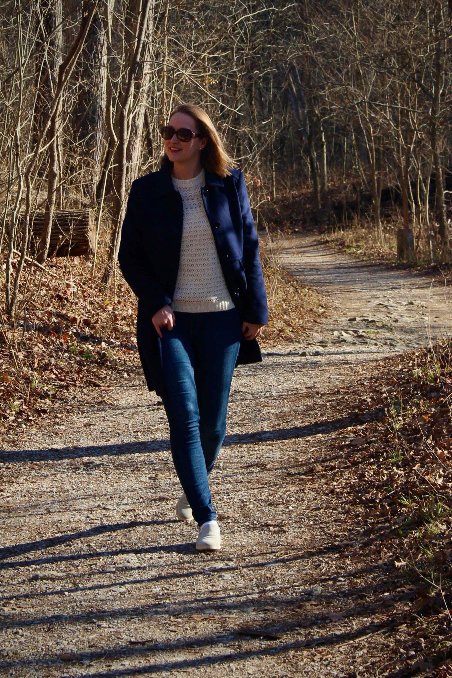 Preppy Winter Outfit | Walks through Sharon Woods Cincinnati | The Spectacular Adventurer