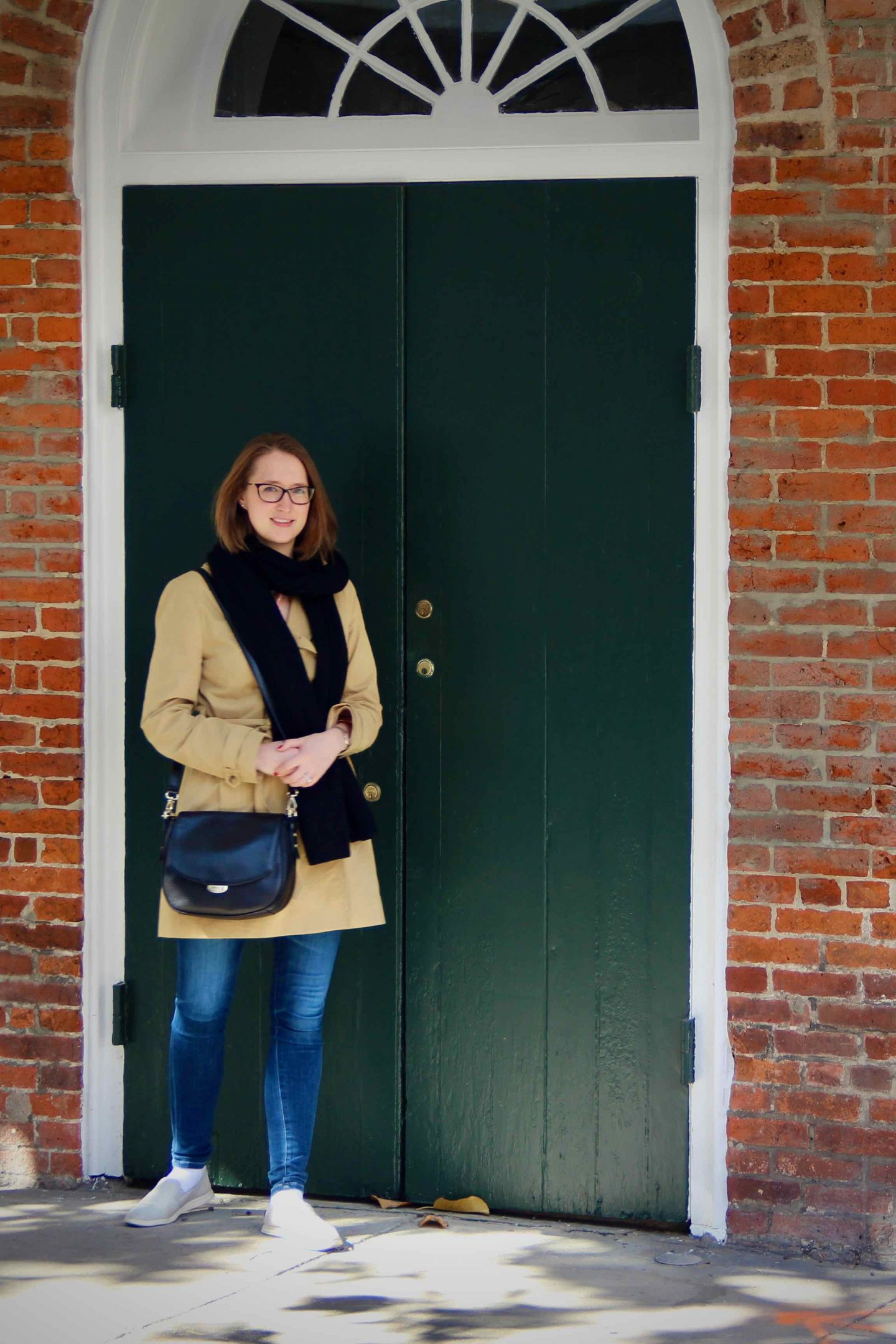 Preppy Trench Jacket Outfit | NOLA | The Spectacular Adventurer