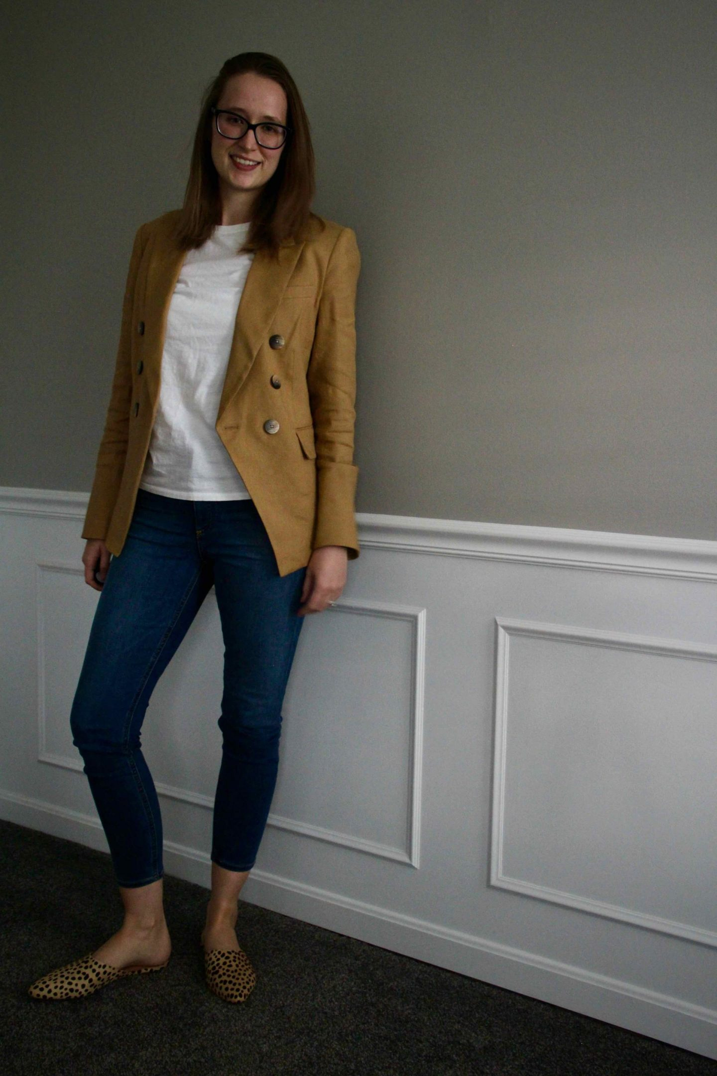 Camel Work Blazer Outfit Ideas | Veronica Beard Blazer | The Spectacular Adventurer