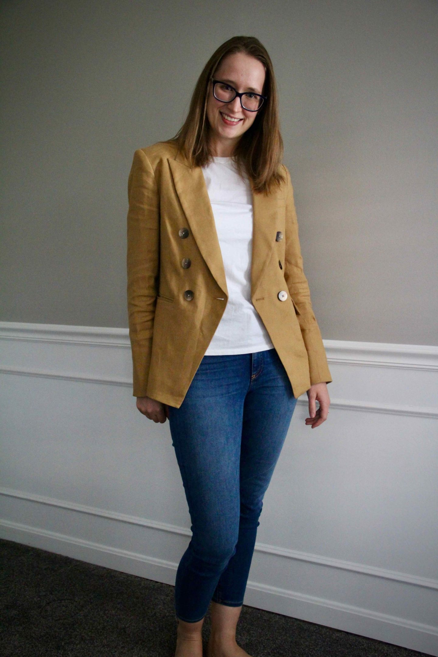 Casual Work Outfit Ideas with Veronica Beard Blazer | The Spectacular Adventurer