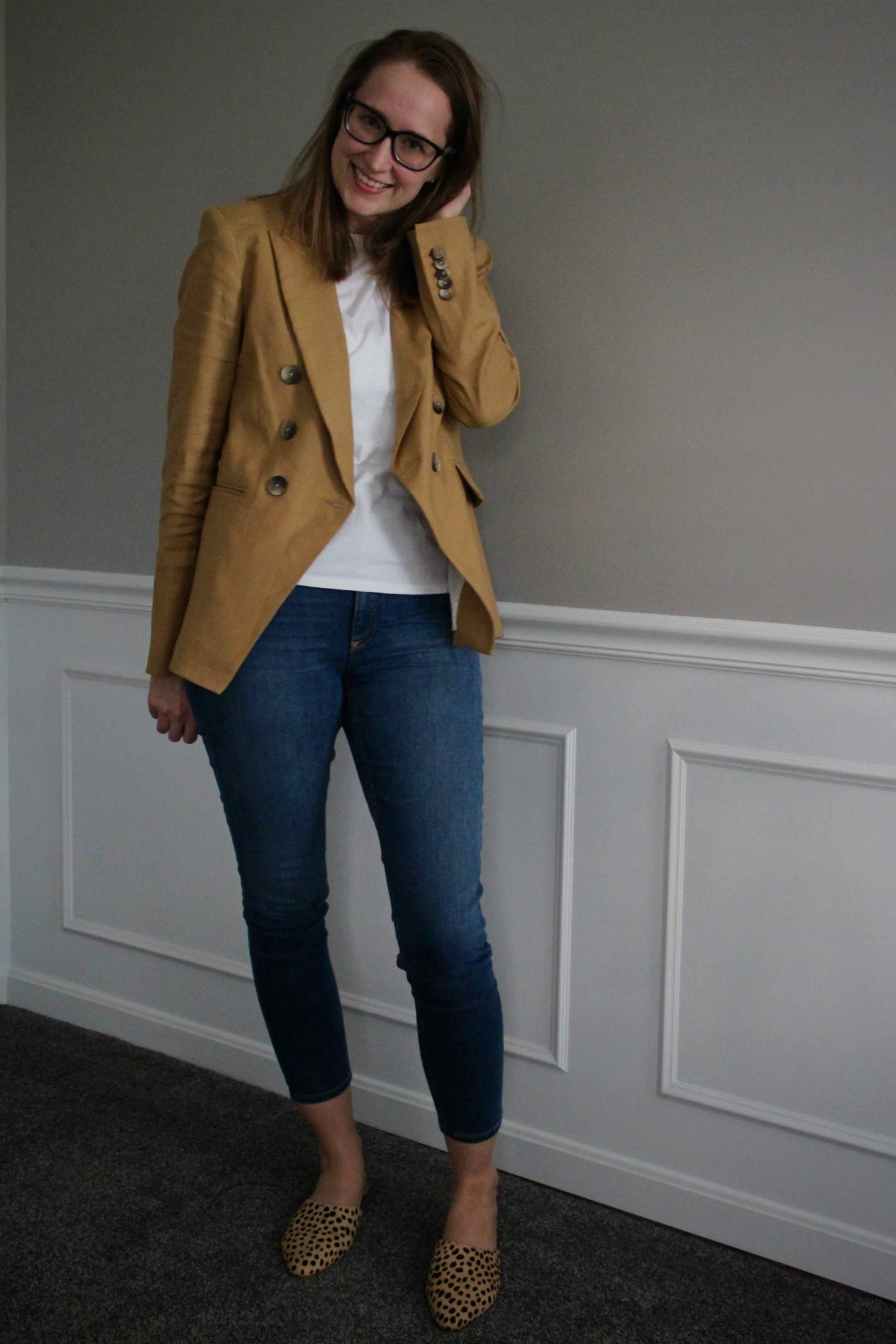 The Perfect Casual Work Outfit Idea | Veronica Beard Blazer | The Spectacular Adventurer